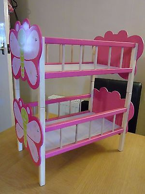 Dolls Wooden Bunk Bed/Cot
