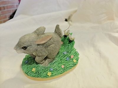 CHARMING TAILS THE CHASE IS ON SIlvestri Bunny With Bees SIGNED DEAN GRIFF (85)