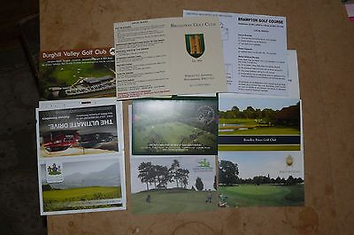 8 Golf score Cards from the England #01