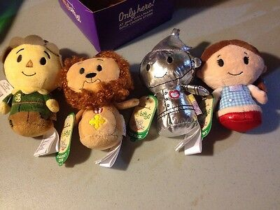 Hallmark Itty Bittys Wizard of Oz Set of 4 With Carrying Box