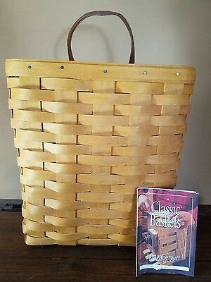Authentic 2001 Longaberger 11053 Tall Key or Mail Basket & Protector