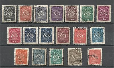 Portugal 1943-49 Caravel (SG 942-958) Used Set
