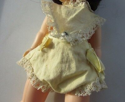 Vogue Ginnette Doll Romper Sun Suit Yellow & Lace 1960 #2302 Cute To Display