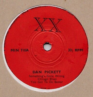 "Dan Pickett UK XX 7"" EP 1971 33rpm Blues Gotham sides 1948 Rare"