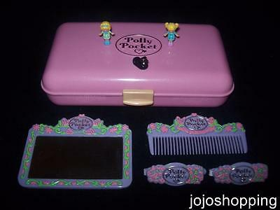 100% Complete EUC Polly Pocket Pretty Hair Playset 1990