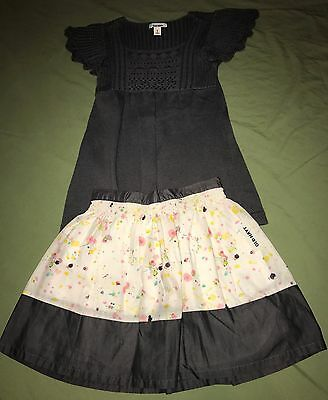 NEW Old Navy Girls Gray Sweater Floral Skirt Outfit Size 8 NWT