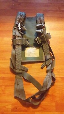 1983 USAF Pilots Personal Parachute Ejection Seat Harness Size 2