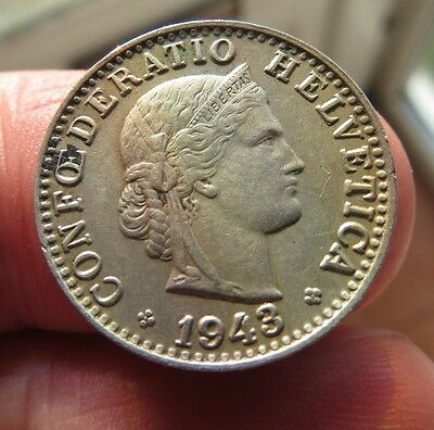 1943 Helvatica 20 Rappen Switzerland