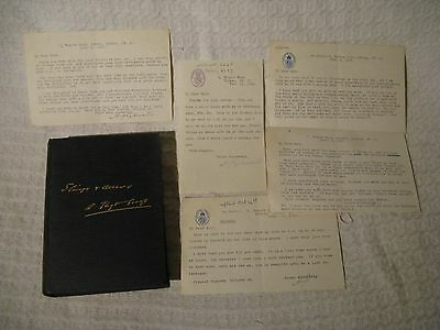 Slings & Arrows David Lloyd George Book 1st Ed + 5 Signed A J Sylvester Letters