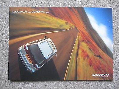 Subaru Legacy Estate brochure (Mk3) - GX and Outback - c.1999