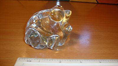 Chunky clear glass frog with attractive bubbled interior