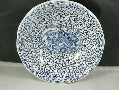 """Adams """"Chinese Bird"""" 6 inch Ironstone Cereal Bowl (Flow Blue)"""