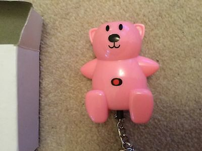 Pink teddy bear shaped personal panic alarm NEW