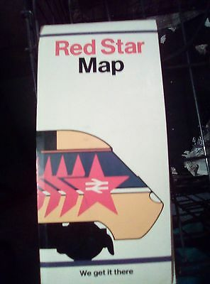 British Rail red star parcels network map