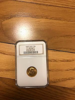 Russian Gold Coin 5 Rouble 1902