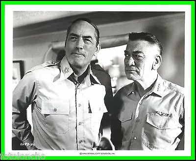 """GREGORY PECK & KENNETH TOBEY in """"MacArthur"""" Original Vintage Photograph 1977"""