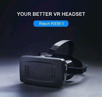 RIEM 2 Virtual Reality VR 3D Headset Plastic Video Glasses for Android, IOS