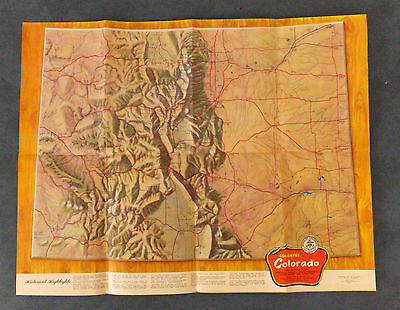 Large 1951 Colorado State Highway District Road & Sight-seeing Map