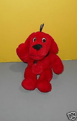 "8"" Clifford the Big Red Dog Scholastic 8"" Plush Plush Stuffed w/ Plastic Medal"