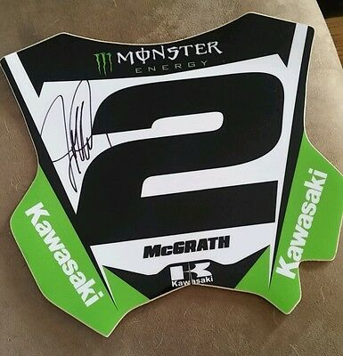 Jeremy Mcgrath Kawasaki Race Signed Monster Energy Supercross Number Plate Decal