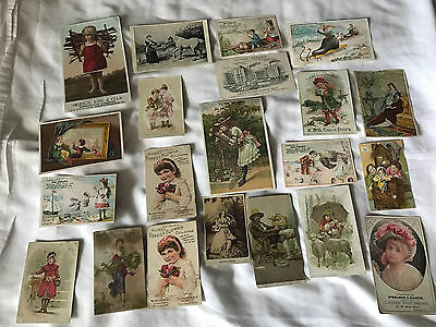 Victorian Trade Cards, Lot of 20 - Soap, Cough Drops, Coffee, Etc.