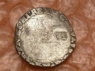 Charles I 1635 Silver Sixpence Crown Mint Mark #4A
