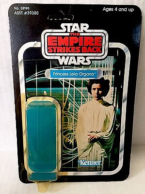 Star Wars Princess Leia Organa 41 Cardback W Attch Bubble Footer Kenner Vintage