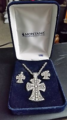 Montana Silversmith's Necklace And Earrings