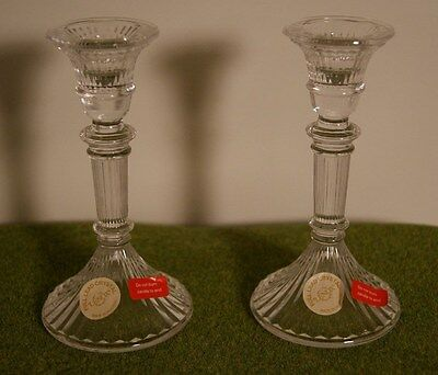 Set of 2 Lenox Austria Lead Crystal Candle Holders Candlesticks EC