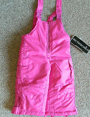 Girls pink snowpants 12 month size