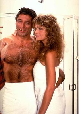 Farrah Fawcett  Charlie's Angels  With Hairy Beefcake Joe Namath 8X10 Photo 308