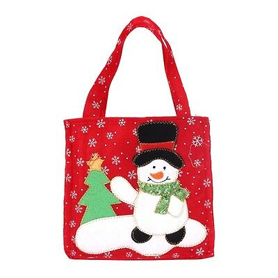 Hot Sale Santa Claus Holy tree X-mas Gift Bag Merry Christmas Candy eco tote Bag