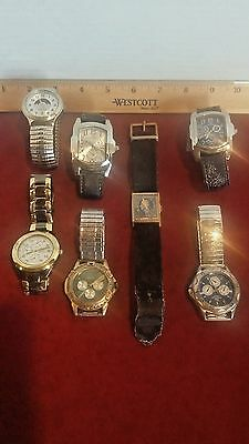 Men's Vintage Watch Lot Relic Freestyle Brut Ralph Sabini Tommy Herrera Used