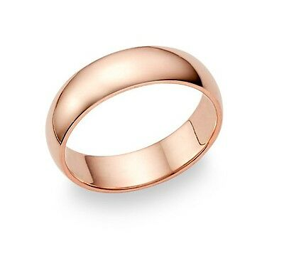 Rose Gold ring, 9 CT carat, 5mm width, plain band