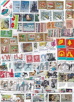 Netherlands 98 stamps on paper kiloware with very recent