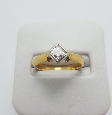 9Ct Yellow Gold Diamond Solitaire Ring Valued @$2296 Comes With Valuation