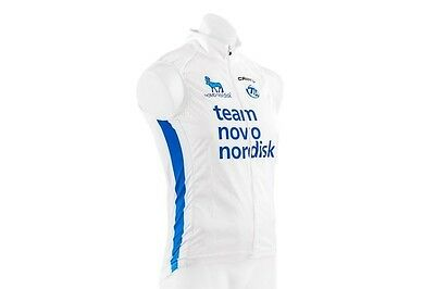 Small Craft Road Bike Cycling Wind Vest Team Novo Nordisk