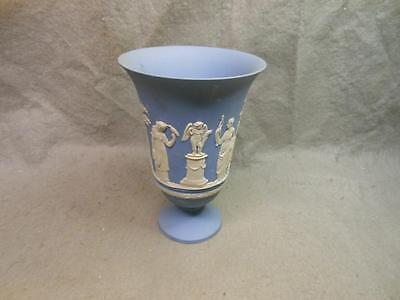 "Vintage Wedgwood Light  Blue Jasperware Chalice / Vase Sacrifice 7 1/2"" England"