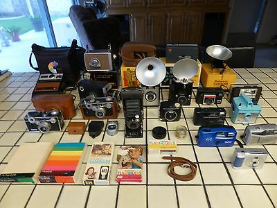 Vintage Camera Collection with Accessories