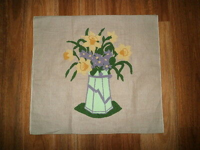 Large linen backed needle work picture