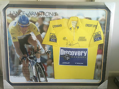 LANCE ARMSTRONG Tour de France Jersey Autographed & Framed - Limited Edition