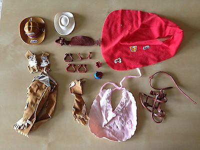 Lot of Vintage Barbie Cowgirl and Horse Accessories