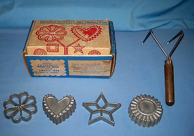 VTG NORDIC WARE DOUBLE ROSETTE & TIMBALE IRON/Patty Shells 4 Designs!