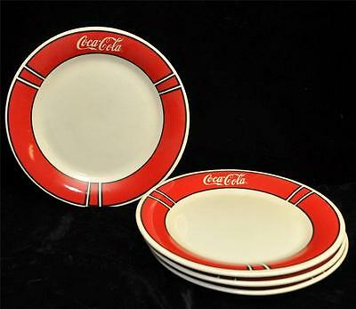 Coca-Cola Brand Dinnerware 10 inch set of 4 dinner plates by  Gibson