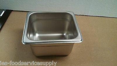 """(12) Sixth Size 4"""" Deep Stainless Steamtable Pans Food Pan Hot Table Steam Pan"""