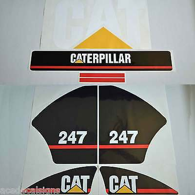 CAT 216 226 236 242 246 247 252 257 267 Decals Stickers Kit Skid Steer loader