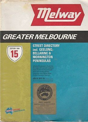 1984 Melway Greater Melbourne Street Directory 15th Edition GREAT CONDITION