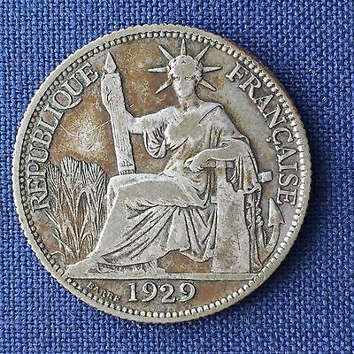 "Vietnam / French Indo China 20 Centimes 1929 - F, Key Year, ""Rare,"" Silver"