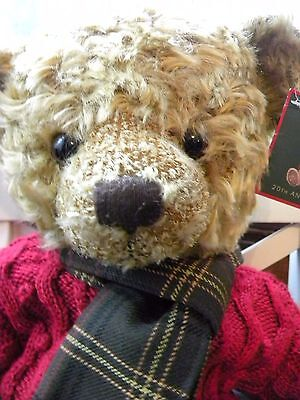 Harrods Curly Haired Pyjarma Case Teddy Bear BNWT With jumper @ Skarf