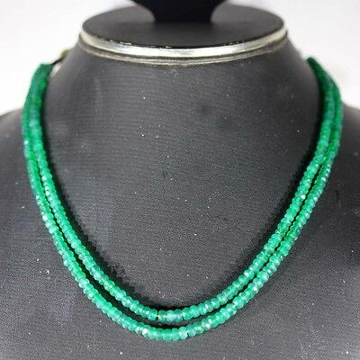 108cts rarest natural green onyx 12 inch faceted beads 4 mm cabochon gemstone